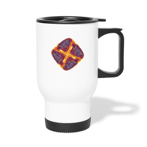 Chakra Mandala Mantra OM Chaos Star Circle 12255i - Thermal mug with handle