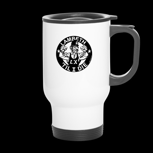LAMBETH - BLACK - Thermal mug with handle