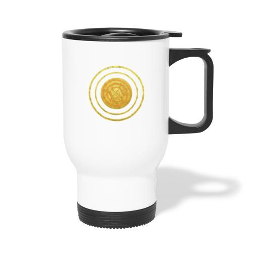 Glückssymbol Sonne - positive Schwingung - Spirale - Thermobecher mit Tragegriff