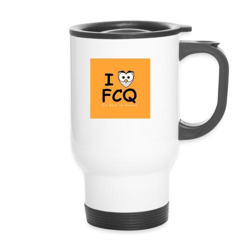 I Love FCQ button orange - Thermobecher