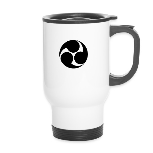Kobayakawa Mon Japanese clan black - Travel Mug