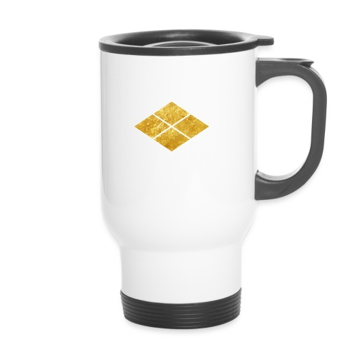 Takeda kamon Japanese samurai clan faux gold - Travel Mug