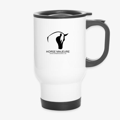 Horse Majeure Logo / Musta - Kahvallinen termosmuki