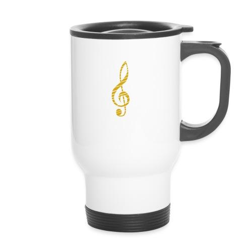 Goldenes Musik Schlüssel Symbol Chopped Up - Travel Mug
