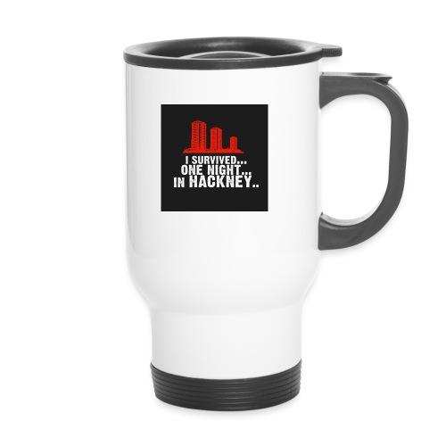 i survived one night in hackney badge - Travel Mug