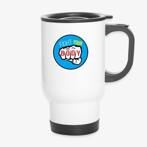 logo fyb bleu ciel - Mug thermos