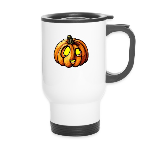 Pumpkin Halloween watercolor scribblesirii - Travel Mug