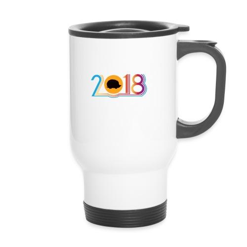 Frohes neues Jahr 2018 Igeldesign - Thermobecher