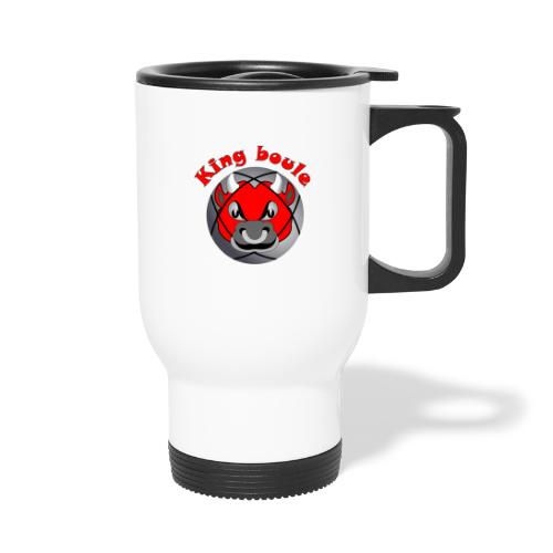 t shirt King boule roi pétanque tireur pointeur - Mug thermos