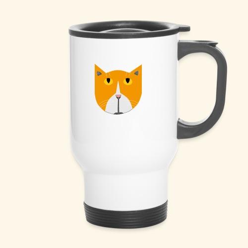 Hieno kissa - Kahvallinen termosmuki
