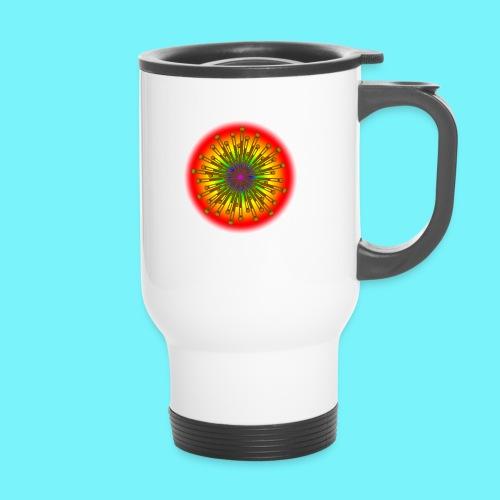 Rainbow explosion behind Fibonacci - Thermal mug with handle