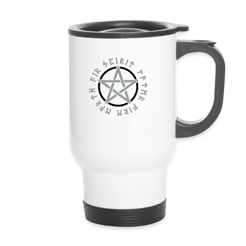 Pentagramm, Elemente, Runen, Magie, Symbol, Stern - Thermobecher