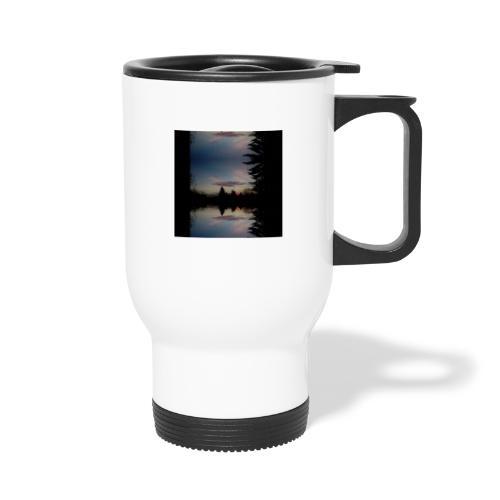 Sonnenhorizont Spiegelung Ufowolke - Thermobecher