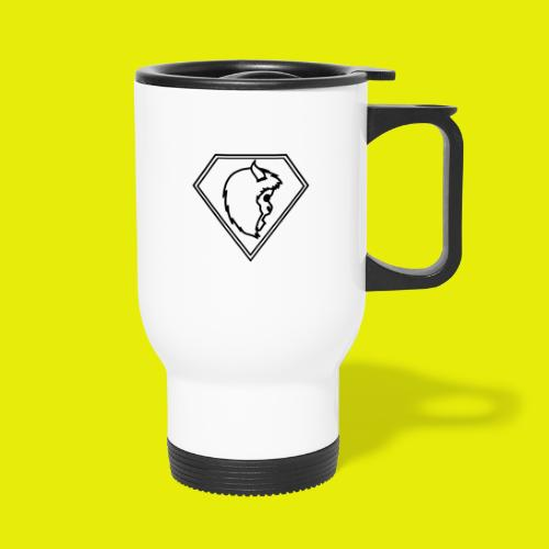 logo white - Thermal mug with handle