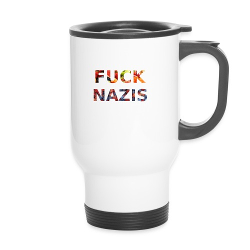 Fuck Nazis with Fruits - Thermobecher