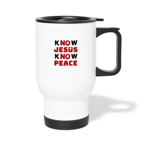 Know Jesus Know Peace (Classic) - Thermobecher mit Tragegriff