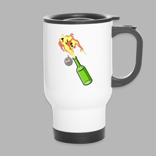TJS Flaming Bottle - Travel Mug