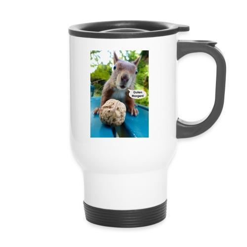 Guten-Morgen-Gruß vom Eichhörnchen - Thermobecher