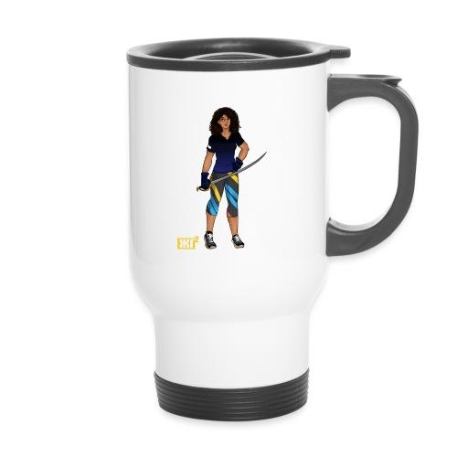 Sabre fencer - Thermal mug with handle