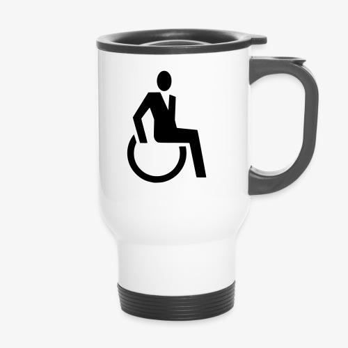 Sjieke rolstoel gebruiker symbool - Thermo mok