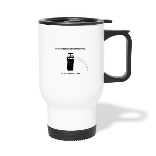 le fil rouge sur le bouton rouge - Mug thermos