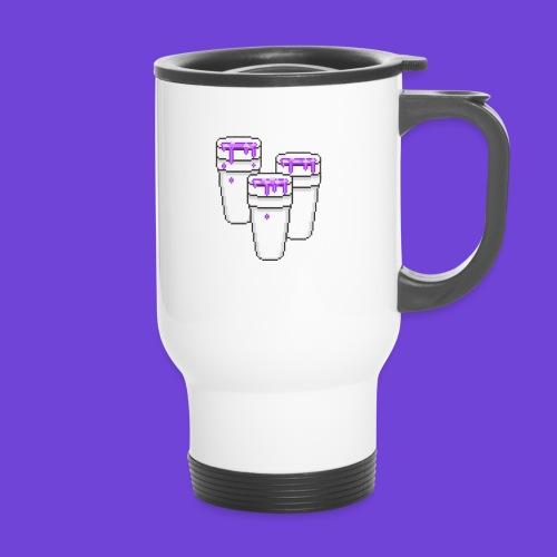 Purple - Tazza termica con manico per il trasporto