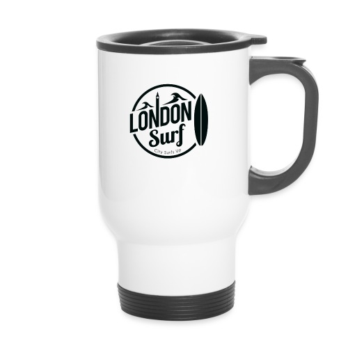 London Surf - Black - Thermal mug with handle