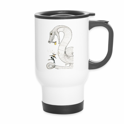 Poison - Fight against a giant poisonous snake - Travel Mug