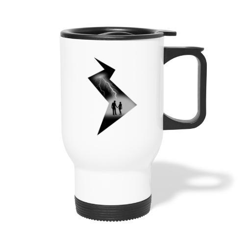 t shirt coup de foudre noir et blanc amour love - Mug thermos