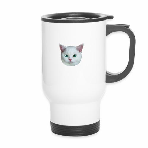 26 Royal Cat Princess white feine weiße Katze - Thermobecher