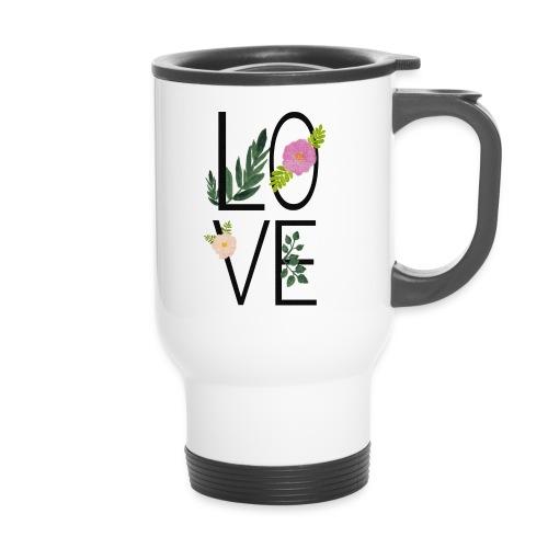 Love Sign with flowers - Travel Mug