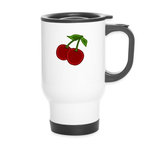 cherry - Kubek termiczny z uchwytem