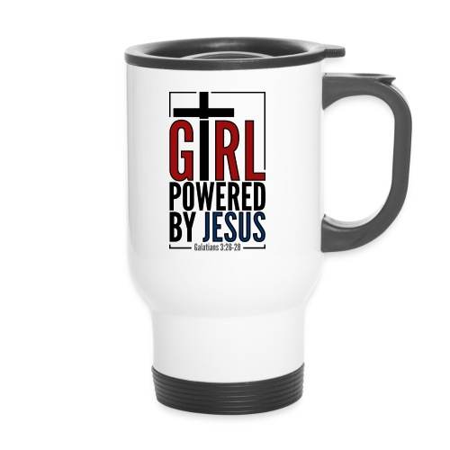Girl powered by Jesus - Termosmugg med handtag