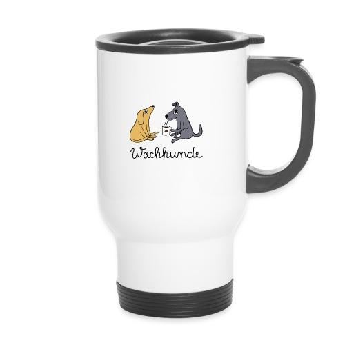 Wachhunde - Nur wach mit Kaffee - Thermobecher mit Tragegriff