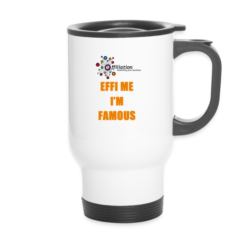 effiliation orange jpg - Tasse isotherme avec poignée