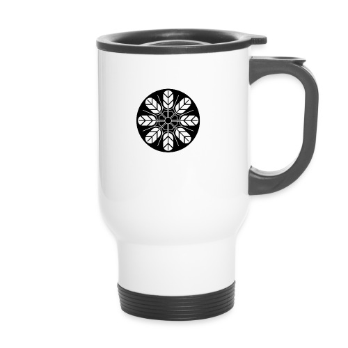 Inoue clan kamon in black - Travel Mug