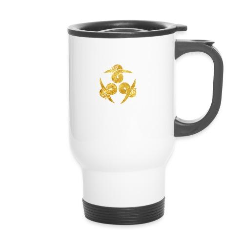 Three Geese Japanese Kamon in gold - Travel Mug