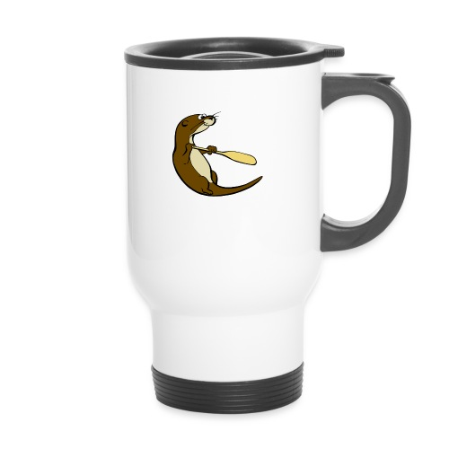 Classic Song of the Paddle otter logo - Thermal mug with handle