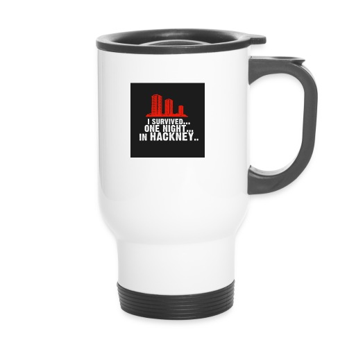 i survived one night in hackney badge - Thermal mug with handle