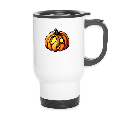 Pumpkin Halloween watercolor scribblesirii - Thermal mug with handle