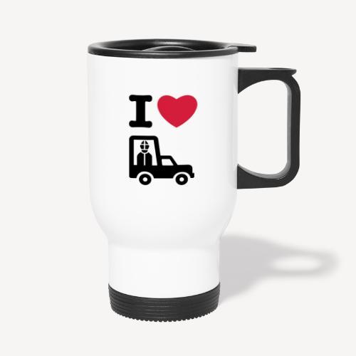 Papst im Auto - Travel Mug