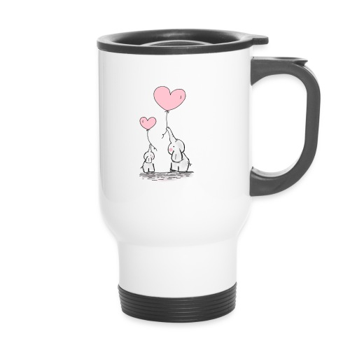 cute elephants - Thermal mug with handle