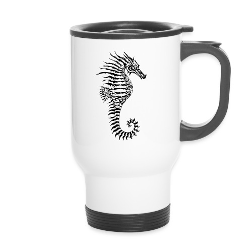 Alien Seahorse Invasion - Thermal mug with handle