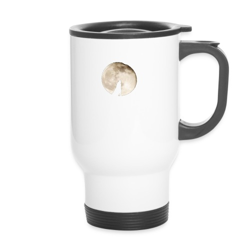 The wolf with the moon - Mug thermos