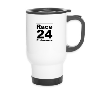 Race24 logo in black - Travel Mug