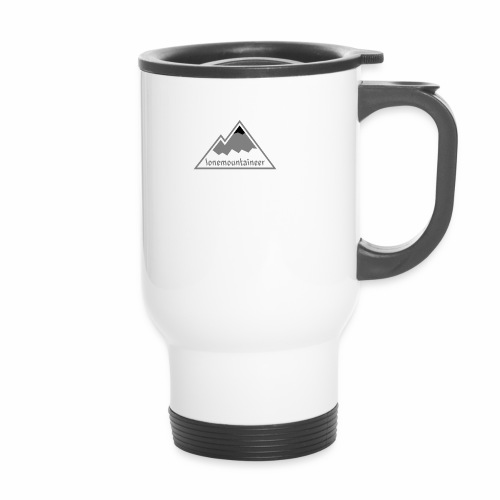 Lonemountaineer logo blk - Travel Mug