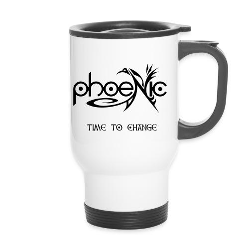 PhoeNic - Logo - Thermobecher mit Tragegriff