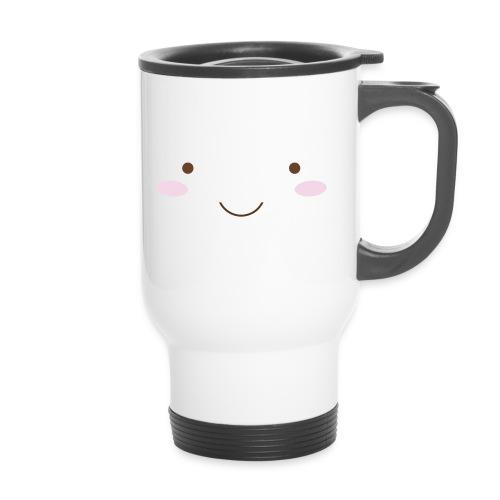 happy face - Travel Mug