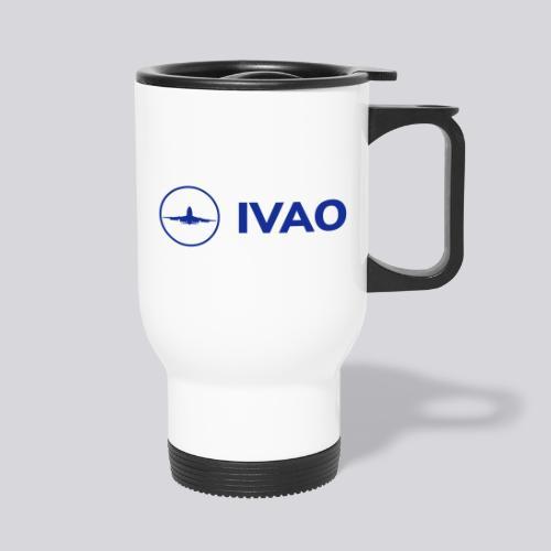 IVAO (Logo bleu complet) - Tasse isotherme avec poignée