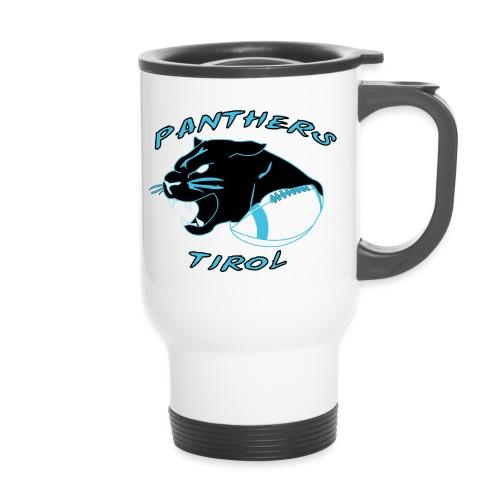 Panthers Logo 2014 Schriftzug png - Thermobecher mit Tragegriff